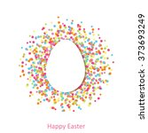happy easter greeting card.... | Shutterstock .eps vector #373693249