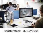 businessman working analysis... | Shutterstock . vector #373693951