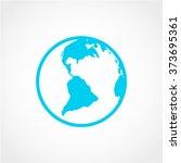 globe icon isolated on white...