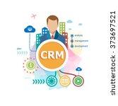 crm   customer relationship...   Shutterstock .eps vector #373697521