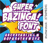creative high detail comic font.... | Shutterstock .eps vector #373698241