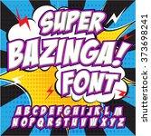 creative high detail comic font.... | Shutterstock .eps vector #373698241