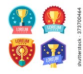 cup winner logo. emblems set.... | Shutterstock .eps vector #373700464