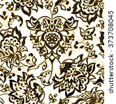 ethnic flowers seamless vector... | Shutterstock .eps vector #373708045