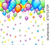 birthday background with... | Shutterstock .eps vector #373713739
