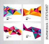 vector set abstract geometric... | Shutterstock .eps vector #373714087