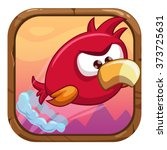 cartoon app icon with funny...