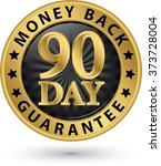 90 day money back guarantee... | Shutterstock .eps vector #373728004