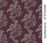 vintage floral ornament pattern ... | Shutterstock .eps vector #373732489