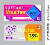 vector illustration gift... | Shutterstock .eps vector #373734127