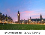 London Skyline With Big Ben An...
