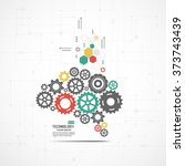 abstract technological... | Shutterstock .eps vector #373743439