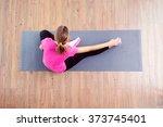 fitness concept. top view of...   Shutterstock . vector #373745401