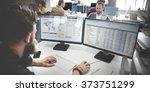 businessman working analysis...   Shutterstock . vector #373751299