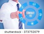 businessman in shirt presenting ... | Shutterstock . vector #373752079