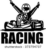 racing winner   kart driver | Shutterstock .eps vector #373754737