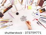 post blog social media... | Shutterstock . vector #373759771