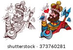 figure character. king of... | Shutterstock .eps vector #373760281