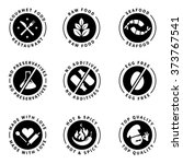 food product badges collection... | Shutterstock .eps vector #373767541