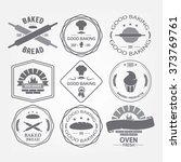 set of nine bakery vector... | Shutterstock .eps vector #373769761
