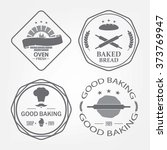 set of bakery logos  labels ... | Shutterstock .eps vector #373769947