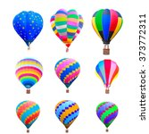 Collection Of Colorful Hot Air...