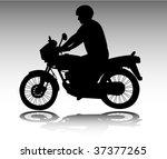 motorcyclist   vector | Shutterstock .eps vector #37377265