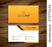 modern yellow business card | Shutterstock .eps vector #373773154