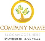 luxury tree logo vector  ... | Shutterstock .eps vector #373774111