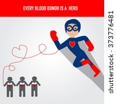 people are hero for blood... | Shutterstock .eps vector #373776481