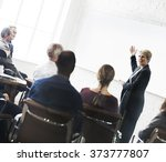 business people meeting... | Shutterstock . vector #373777807