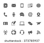 communication icons isolated on ... | Shutterstock . vector #373785937