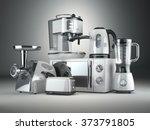 kitchen appliances. blender ... | Shutterstock . vector #373791805