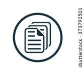 document icon  on white...   Shutterstock . vector #373792501