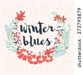 colorful collection of winter... | Shutterstock .eps vector #373795879