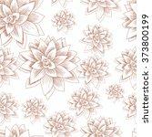 succulent. vector seamless... | Shutterstock .eps vector #373800199