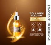 collagen serum and vitamin... | Shutterstock .eps vector #373800415