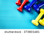 fitness background with... | Shutterstock . vector #373801681