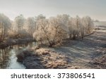 cold day.  frosty morning | Shutterstock . vector #373806541