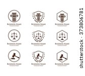 law and attorney logo  elegant... | Shutterstock .eps vector #373806781
