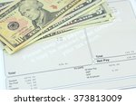 photo shows weekly salary on... | Shutterstock . vector #373813009