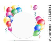 white round paper banner with... | Shutterstock .eps vector #373825861