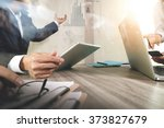 businessman making presentation ... | Shutterstock . vector #373827679