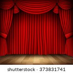 red curtain of classical...   Shutterstock .eps vector #373831741