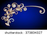 jewelry background with diamond ...   Shutterstock .eps vector #373834327