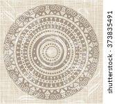 native american pattern. round... | Shutterstock .eps vector #373835491