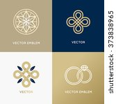 vector abstract logo design... | Shutterstock .eps vector #373838965