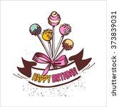 happy birthday. vintage... | Shutterstock .eps vector #373839031
