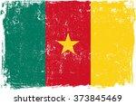 cameroon vector grunge flag... | Shutterstock .eps vector #373845469