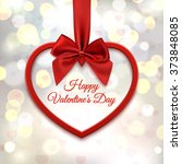 happy valentines day  greeting... | Shutterstock . vector #373848085
